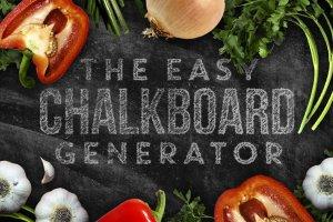 粉笔画粉笔字体样式&PS笔刷 Chalkboard Generator插图1