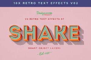 80年代复古风格文本特效PS字体样式v1 Retro Text Effects V2插图1