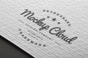 徽标Logo印刷效果展示样机合集 Logo Mockup Set插图16
