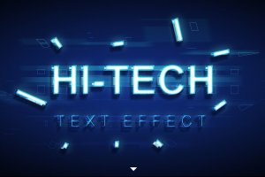炫酷平滑3D高科技效果PS字体样式 TECHNOLOGY TEXT EFFECT插图2