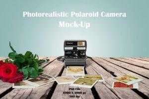 宝丽来相机样机 Polaroid Mockup插图1