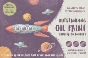 高品质油画质感AI画笔笔刷 Outstanding Oil Paint Brushes插图1
