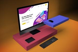 一体机电脑iMac Pro屏幕演示样机模板v2 iMac Pro Mockup V.2插图3