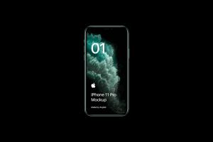 全新iPhone 11 Pro手机屏幕界面演示样机模板[PSD格式]插图2