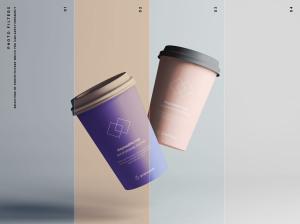 7个咖啡纸杯定制外观设计效果图样机模板 7 Coffee Cup Mockups插图9