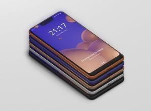 谷歌智能手机Pixel 3 XL屏幕预览样机模板 Smart Phone Mockup Pixel 3 XL插图14