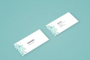 企业品牌办公用品样机模板 Branding Identity Mock Up – Teal Tirangles插图11