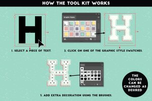 铅笔手绘风格图层样式 The Hand-drawn Pencil Type Tool Kit插图7