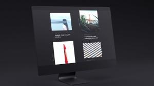 网站UI设计效果图预览黑色iMac电脑样机模板 Dark iMac Mockup插图7