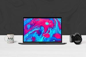 超极本电脑前视图样机模板 Laptop Mockups插图1