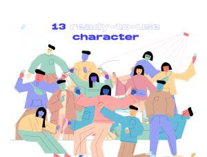一流设计素材网下午茶:社交媒体生活概念矢量插画素材下载[Ai]插图3