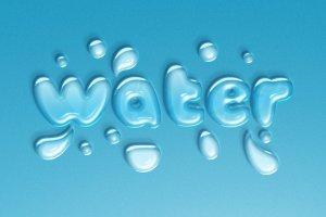 逼真水滴水纹效果PS字体样式 WATER TEXT EFFECT插图2