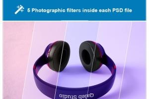 高品质头戴运动音乐耳机样机模板 Headphones Mockup插图8