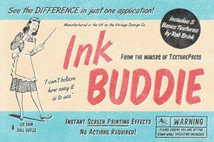 即时打印图片效果图层样式 InkBuddie – Instant Screen Printing插图1