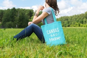 帆布手提袋样机模板 Canvas Bag Mockup插图3
