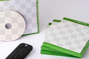 Xbox One游戏光盘封面&包装设计效果图样机 Xbox One Disc Case Mockup插图2