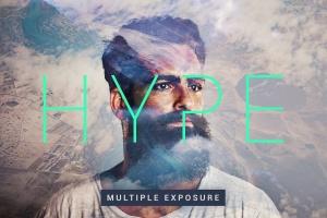 炫酷多重曝光效果照片处理PS图层样式 Hype | Multiple Exposure FX插图1