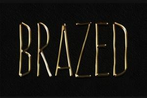 3D金属黄金字体特效PS字体样式 Metal Layer Styles – Photoshop Gold Text Effect插图2