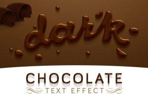 丝滑巧克力质感PS字体样式 Chocolate text effect插图3
