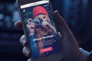 男模特手持iPhone样机模板 iPhone Mock-Up Set插图3
