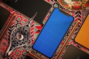 高端奢华场景iPhone X展示样机模板 Arabic iPhone X Mockup插图10
