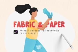 28种织物和纸张肌理纹理Procreate笔刷 Fabric & Paper Procreate Brushes插图(1)