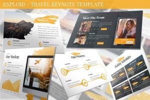 旅游公司&旅行社服务介绍Keynote幻灯片模板 Exploid – Travel Keynote Template插图1
