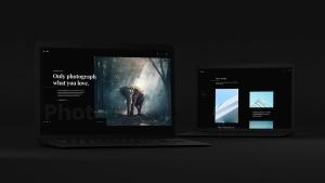 黑色超级笔记本屏幕预览样机模板 Black Laptop Mockup插图12