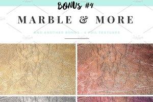 大理石&烫金锡纸纹理 Marble & More Backgrounds插图11