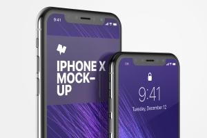 iPhone X手机屏幕UI界面设计局部效果图样机05 iPhone X Mockup 05插图1