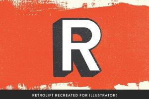 71个复古风格PS字体样式 RetroInk | 71 Retro Ink Effects插图3