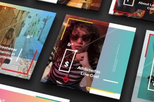 方形UI设计效果透视图等距样机模板02 Square Perspective Mockup 02插图6