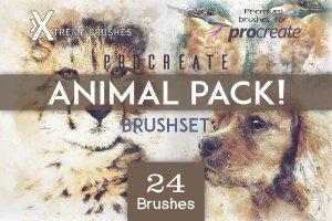 Procreate专用-动物笔刷套装插图1