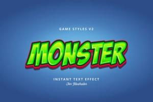 创意游戏字体设计特效AI图层样式v2 Game Styles for Illustrator V2插图7