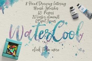 水彩艺术创作样式设计素材 WaterCool Kit. Watercolor Styles插图4