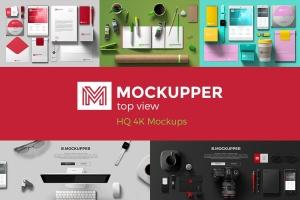 4K高分辨率-100+高质量俯视图办公室场景样机元素 Mockupper: Top View 4K Mock-ups插图1