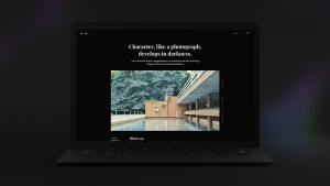 黑色超级笔记本屏幕预览样机模板 Black Laptop Mockup插图5