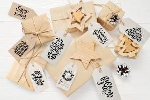 圣诞节礼物标签矢量设计图形素材 Christmas Gift Tags插图9