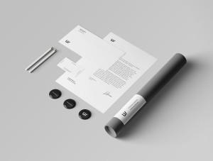 企业品牌VI视觉设计展示办公用品样机套件PSD模板 Stationery Branding & Identity Mockup – PSD插图5