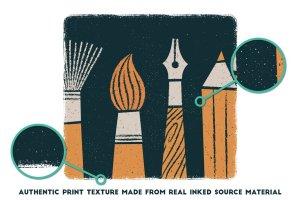 创意海报印刷效果AI笔刷 Poster Press – Screen-Print Creator插图4