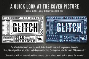毛刺字体特效设计PSD模板 Photoshop Glitch Text Effects插图4