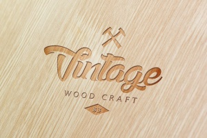 精致木纹浮雕logo样机模板 Wood Logo Mockups插图7