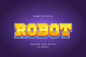 创意游戏字体设计特效AI图层样式v2 Game Styles for Illustrator V2插图8