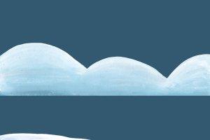 圣诞手绘水粉雪景-剪贴画  Snowy Landscape – clipart插图3