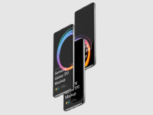 三星智能手机S10超级样机套装 Samsung Galaxy S10 Mockups插图1