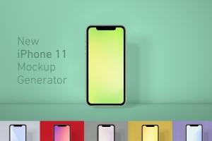 全新发布iPhone 11正面视图样机模板 iPhone 11 Mockup Generator插图1