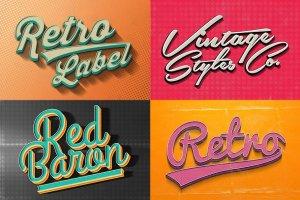 复古风格质感字体文本图层样式合集v3 Vintage Text Effects Vol.3插图2