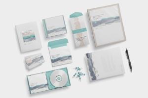 办公用品套装品牌VI设计预览样机模板 Stationery Branding Mockups插图3