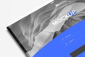 Web页面&应用程序设计屏幕透视图样机模板02 Perspective App Screen Mockup 02插图4