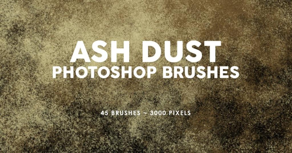 45个灰尘烟雾特效PS印章笔刷 45 Ash Dust Photoshop Stamp Brushes插图